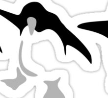 Three dancing Penguins Sticker
