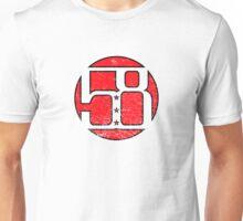 58 Circle Red Unisex T-Shirt