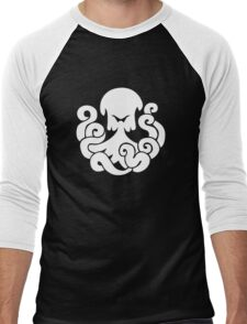 Bioshock Infinite Undertow Vigor [White on Black] Men's Baseball ¾ T-Shirt