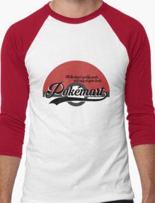 Pokemart retro logo Men's Baseball ¾ T-Shirt