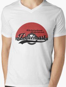 Pokemart retro logo Mens V-Neck T-Shirt