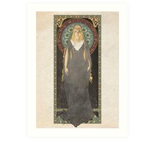 The Lord of the Rings poster Galadriel - Lady of the Galadhrim / art nouveau Art Print
