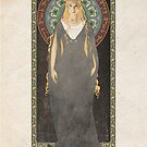 The Lord of the Rings poster Galadriel - Lady of the Galadhrim / art nouveau by koroa