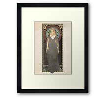 The Lord of the Rings poster Galadriel - Lady of the Galadhrim / art nouveau Framed Print