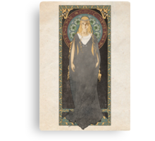 The Lord of the Rings poster Galadriel - Lady of the Galadhrim / art nouveau Canvas Print