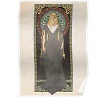 The Lord of the Rings poster Galadriel - Lady of the Galadhrim / art nouveau Poster