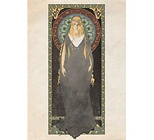 The Lord of the Rings poster Galadriel - Lady of the Galadhrim / art nouveau Photographic Print