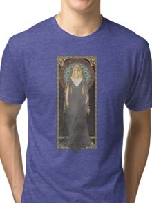 The Lord of the Rings poster Galadriel - Lady of the Galadhrim / art nouveau Tri-blend T-Shirt