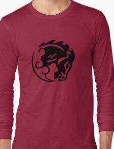 Bioshock Infinite Bucking Bronco Vigor [Black on White] Long Sleeve T-Shirt