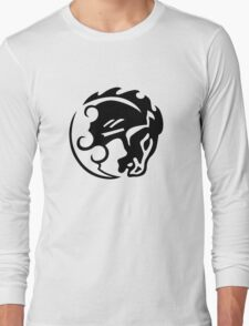 Bioshock Infinite Bucking Bronco Vigor [Black on White] Long Sleeve T-Shirt