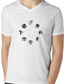 Bioshock Infinite Vigors [Black on White/Circle] Mens V-Neck T-Shirt