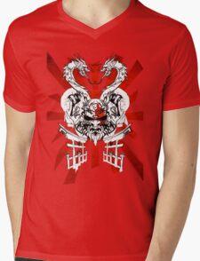 Red Sun Mens V-Neck T-Shirt