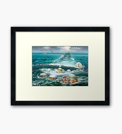 My oases along the way to light  Framed Print