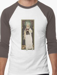 The Lord of the Rings poster Éowyn - shieldmaiden of Rohan / art nouveau Men's Baseball ¾ T-Shirt