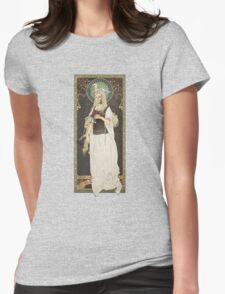 The Lord of the Rings poster Éowyn - shieldmaiden of Rohan / art nouveau Womens Fitted T-Shirt