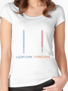 light side vs dark side sabers Women's Fitted Scoop T-Shirt