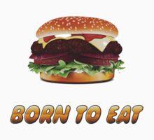 Born To Eat (Hamburger) Kids Clothes