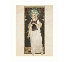 The Lord of the Rings poster Éowyn - shieldmaiden of Rohan / art nouveau Art Print