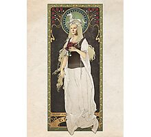 The Lord of the Rings poster Éowyn - shieldmaiden of Rohan / art nouveau Photographic Print