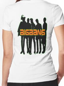 ㋡♥♫Love BigBang K-Pop Clothing & Stickers♪♥㋡ Women's Fitted V-Neck T-Shirt