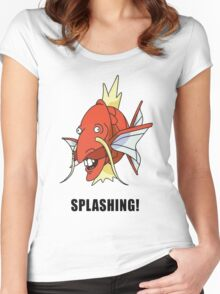 Splashing Women's Fitted Scoop T-Shirt