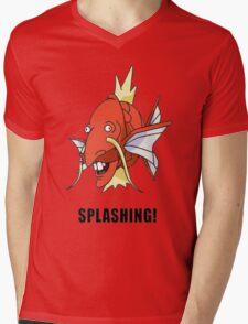 Splashing Mens V-Neck T-Shirt