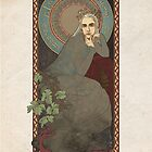 The Lord of the Rings / The Hobbit poster Thranduil the Elvenking / art nouveau by koroa
