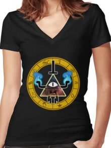 Bill Cipher Women's Fitted V-Neck T-Shirt