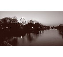 River Ouse  - black & white Photographic Print