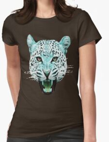 Run Wild [Leopards Blank] Womens Fitted T-Shirt
