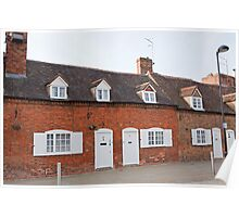 Old houses by the Waterside in Stratford Upon Avon Warwickshire England Poster