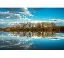 Forest and trees reflections in water nature photo Photographic Print