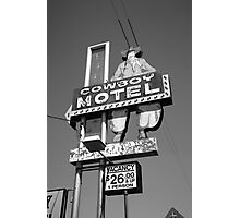 Route 66 - Cowboy Motel Photographic Print