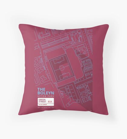 The Boleyn Ground - West Ham Utd Throw Pillow
