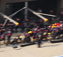 UBS Chinese F1 Grand Prix - Red Bull Pit by Mark Bolton