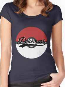 Pokemart retro logo Women's Fitted Scoop T-Shirt