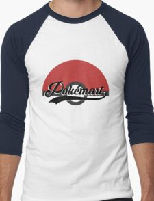 Pokemart retro logo Men's Baseball ¾ T-Shirt
