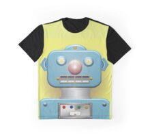 Blue Face Robot Graphic T-Shirt