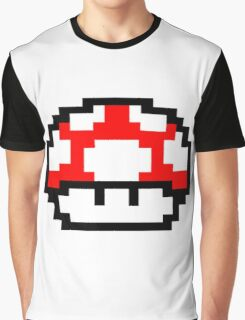 Mario Mushroom Graphic T-Shirt