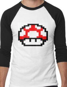 Mario Mushroom Men's Baseball ¾ T-Shirt
