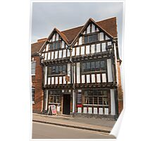 Nash's house and New Place in Stratford Upon Avon England Poster