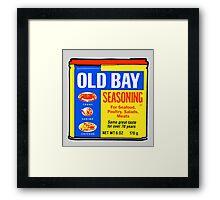 Old Bay Can Framed Print