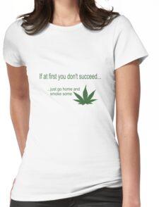 Funny marijuana print Womens Fitted T-Shirt