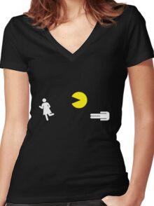Universal Unbranding - Monster in the Toilet Women's Fitted V-Neck T-Shirt