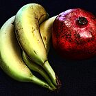 Pomegranate and Bananas by brijo