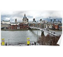 Millennium Footbridge over the Thames in London Poster