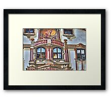 Pilate's House Detail - Oberammergau - Germany Framed Print