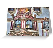 Pilate's House Detail - Oberammergau - Germany Greeting Card