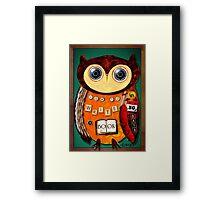 Editorial Owl Framed Print