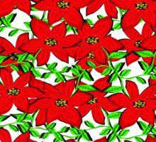 POINTSETTIA GARLAND Sticker
